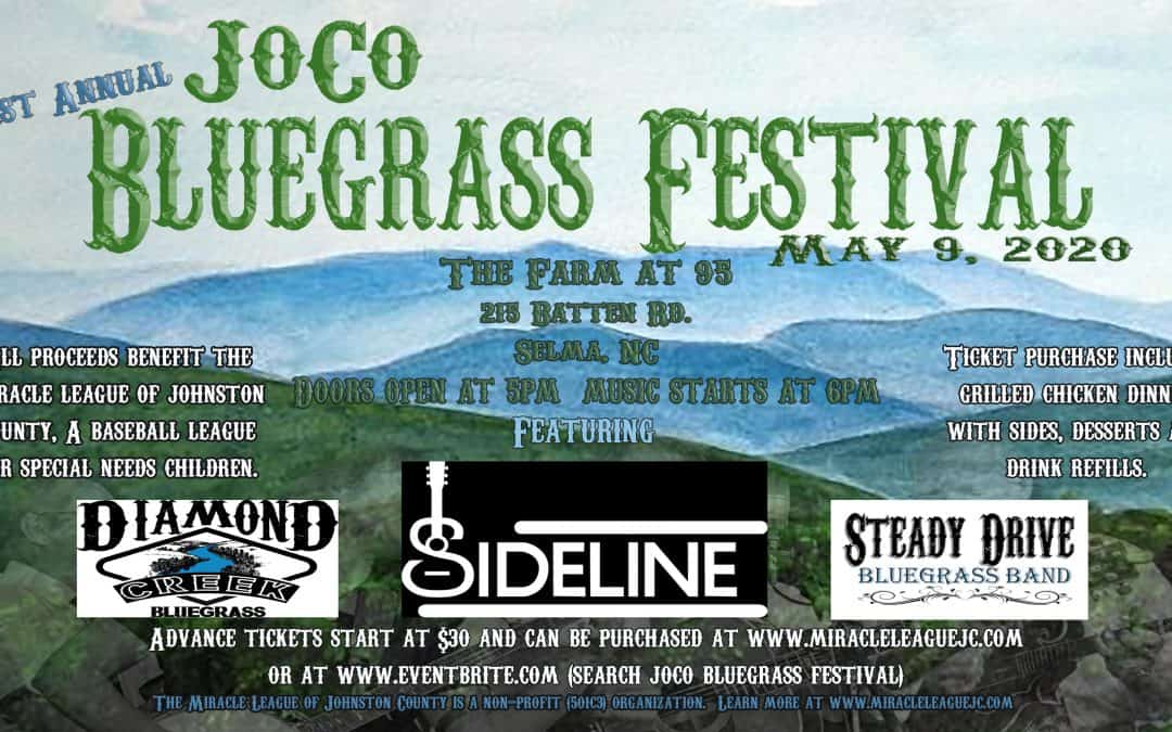 First Annual JoCo Bluegrass Festival on May 9th 2020